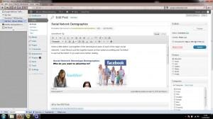 wordpress blog backend