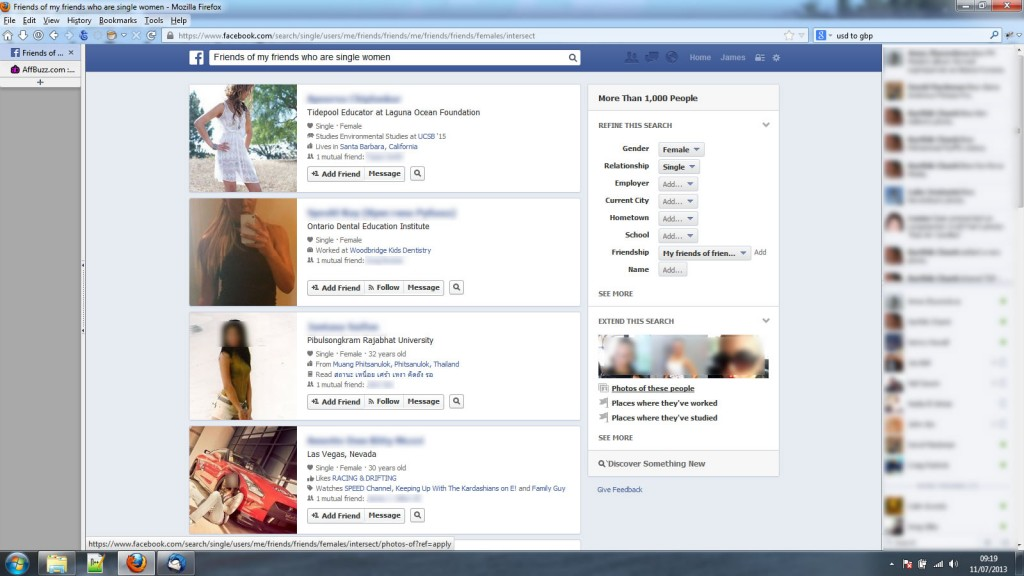 facebook social graph dating