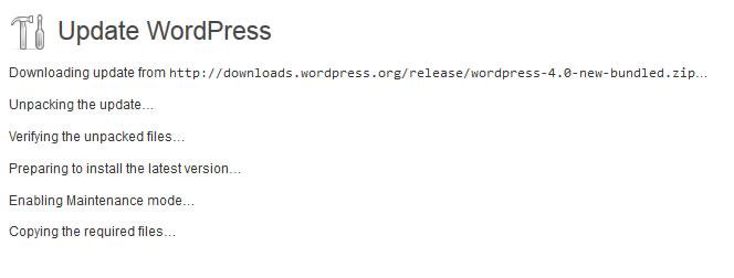 Update WordPress 4.0